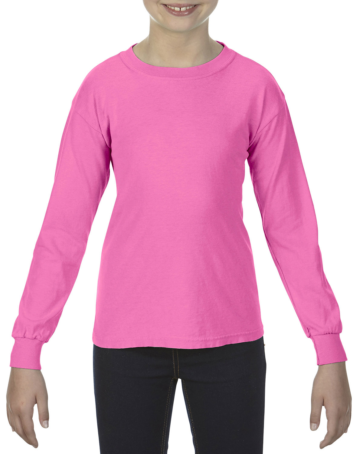 Comfort Colors Youth Garment-Dyed Long-Sleeve T-Shirt PEONY