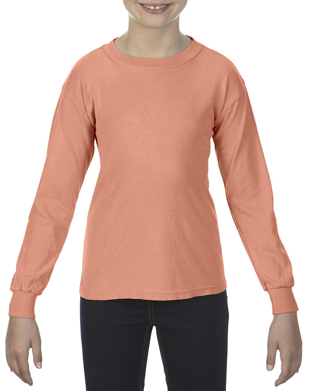 Comfort Colors Youth Garment-Dyed Long-Sleeve T-Shirt TERRACOTTA