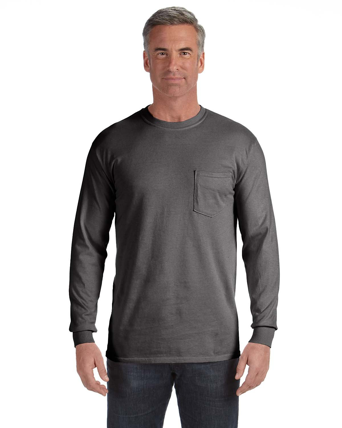 Comfort Colors Adult Heavyweight RS Long-Sleeve Pocket T-Shirt PEPPER