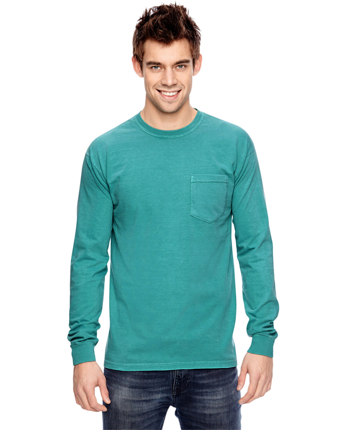 Comfort Colors Adult Heavyweight RS Long-Sleeve Pocket T-Shirt SEAFOAM