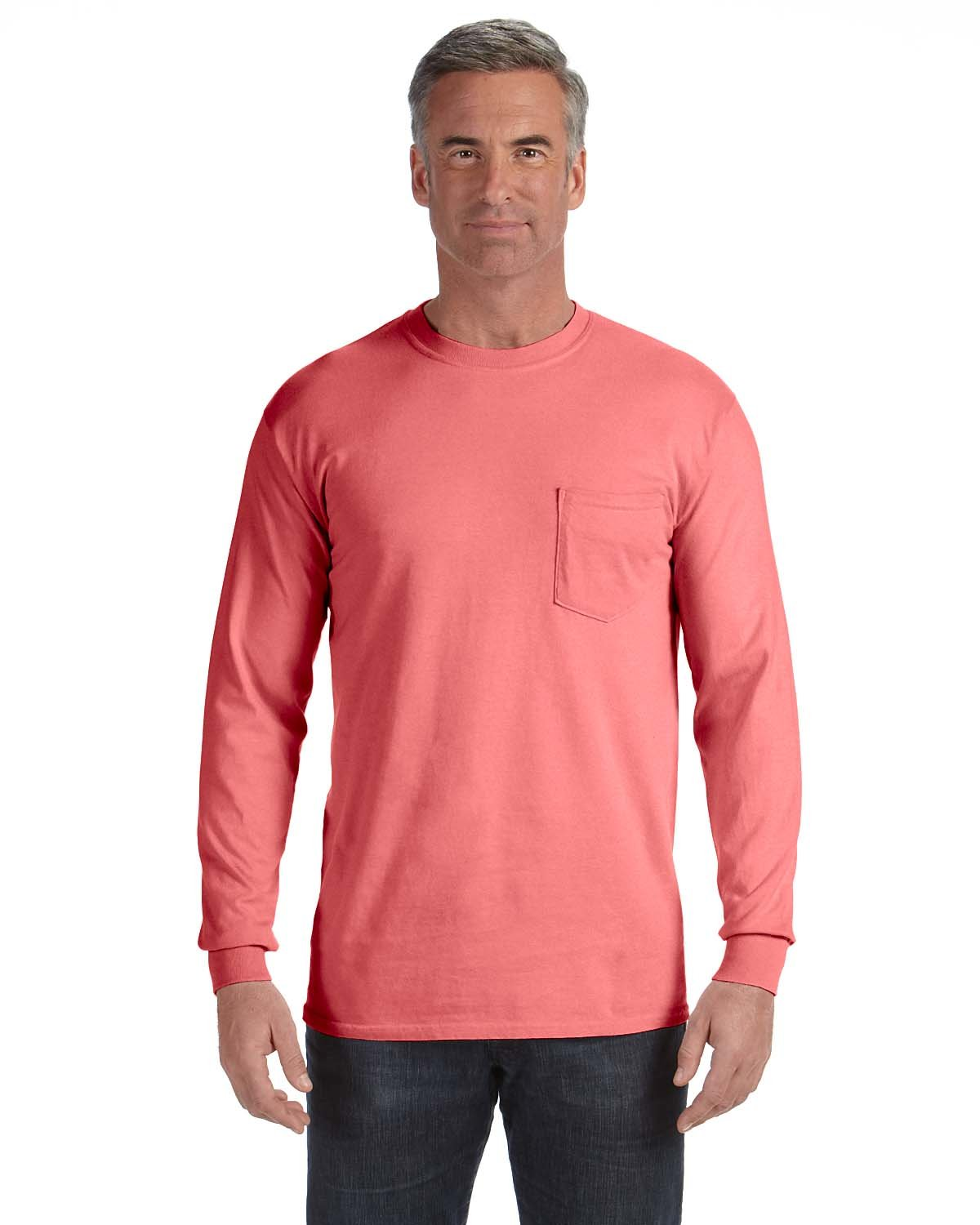 Comfort Colors Adult Heavyweight RS Long-Sleeve Pocket T-Shirt WATERMELON