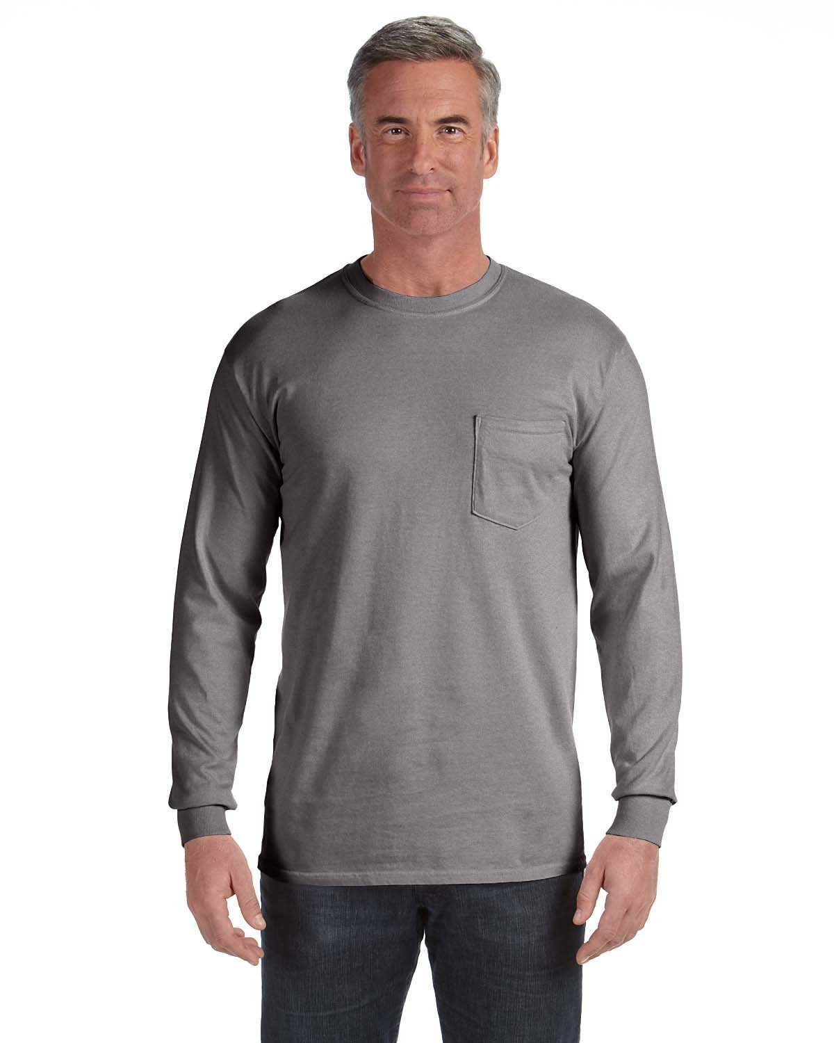 Comfort Colors Adult Heavyweight RS Long-Sleeve Pocket T-Shirt GREY