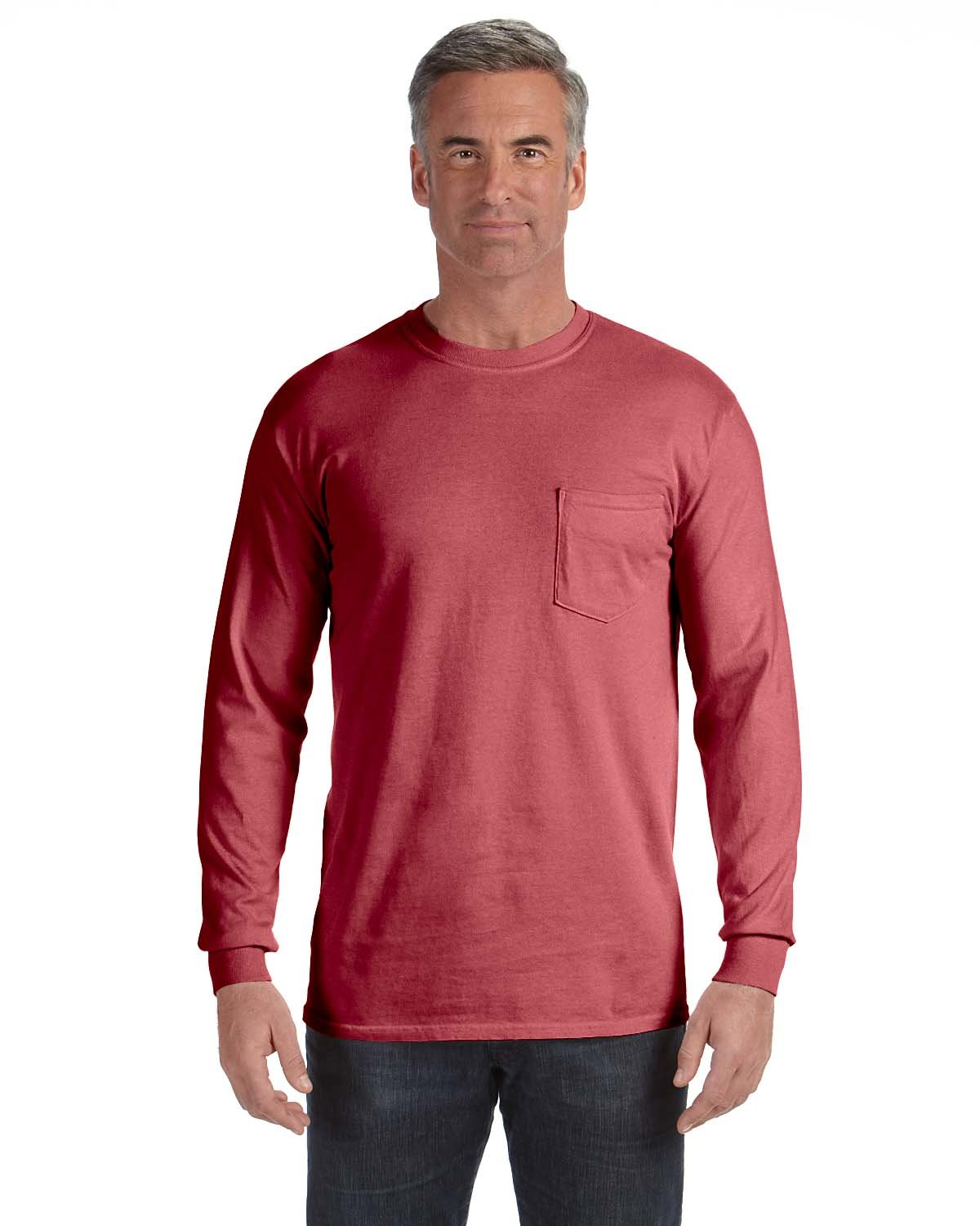 Comfort Colors Adult Heavyweight RS Long-Sleeve Pocket T-Shirt BRICK