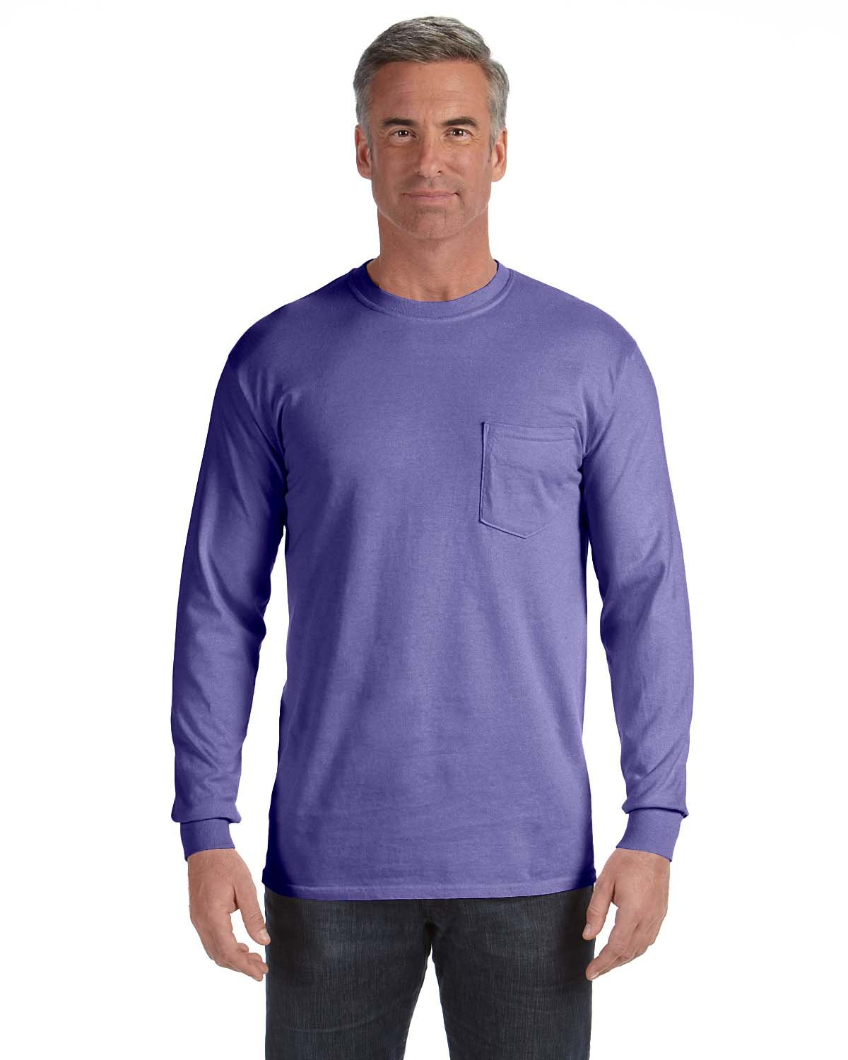 Comfort Colors Adult Heavyweight RS Long-Sleeve Pocket T-Shirt VIOLET