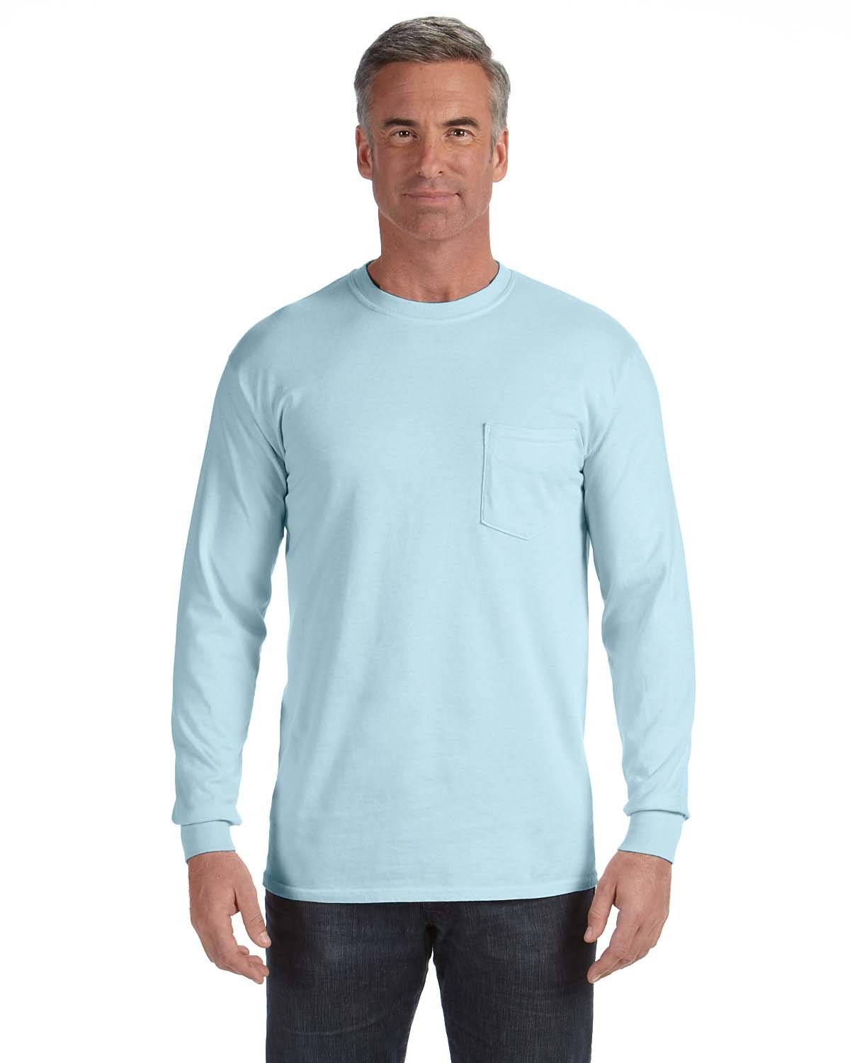 Comfort Colors Adult Heavyweight RS Long-Sleeve Pocket T-Shirt CHAMBRAY