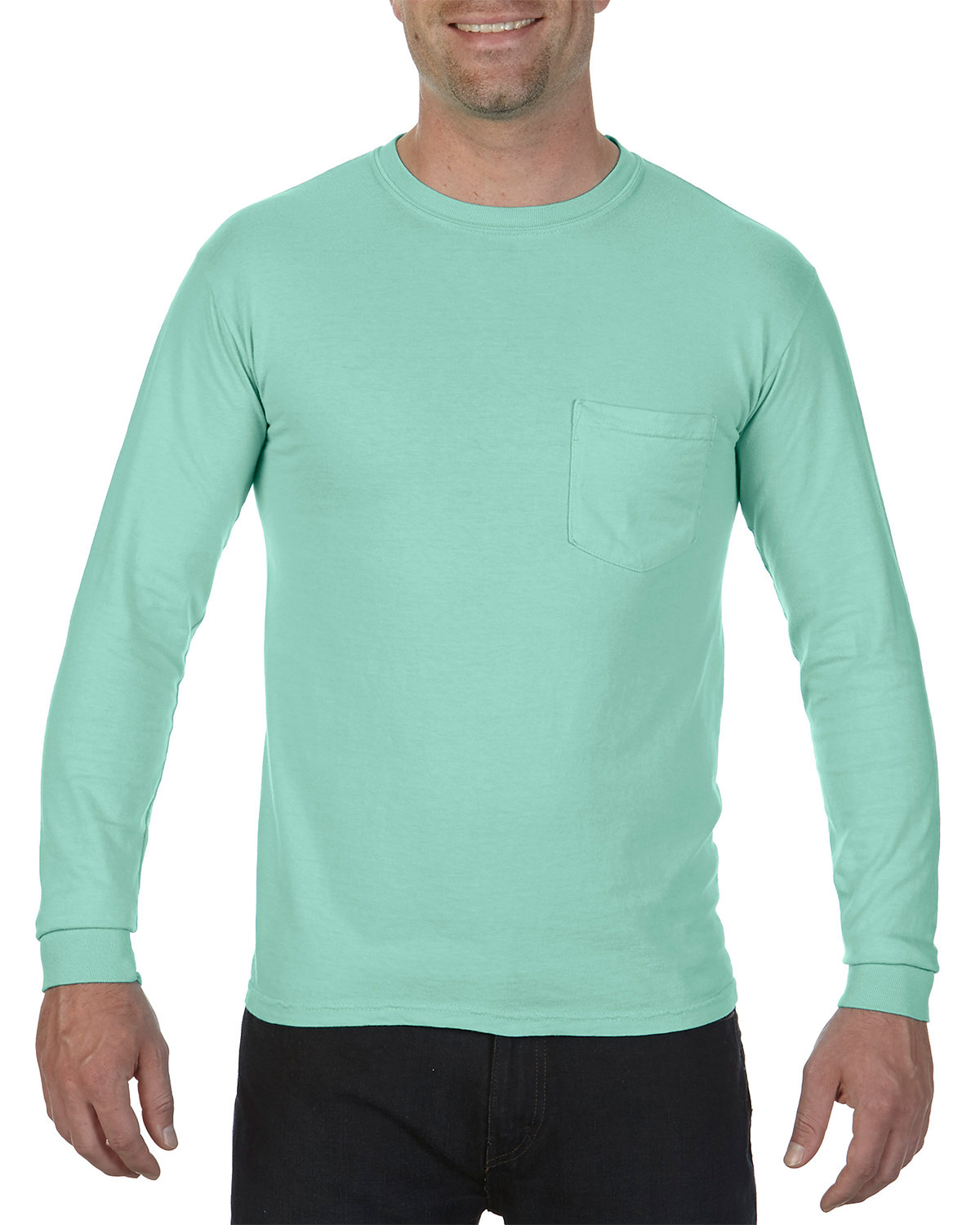 Comfort Colors Adult Heavyweight RS Long-Sleeve Pocket T-Shirt ISLAND REEF