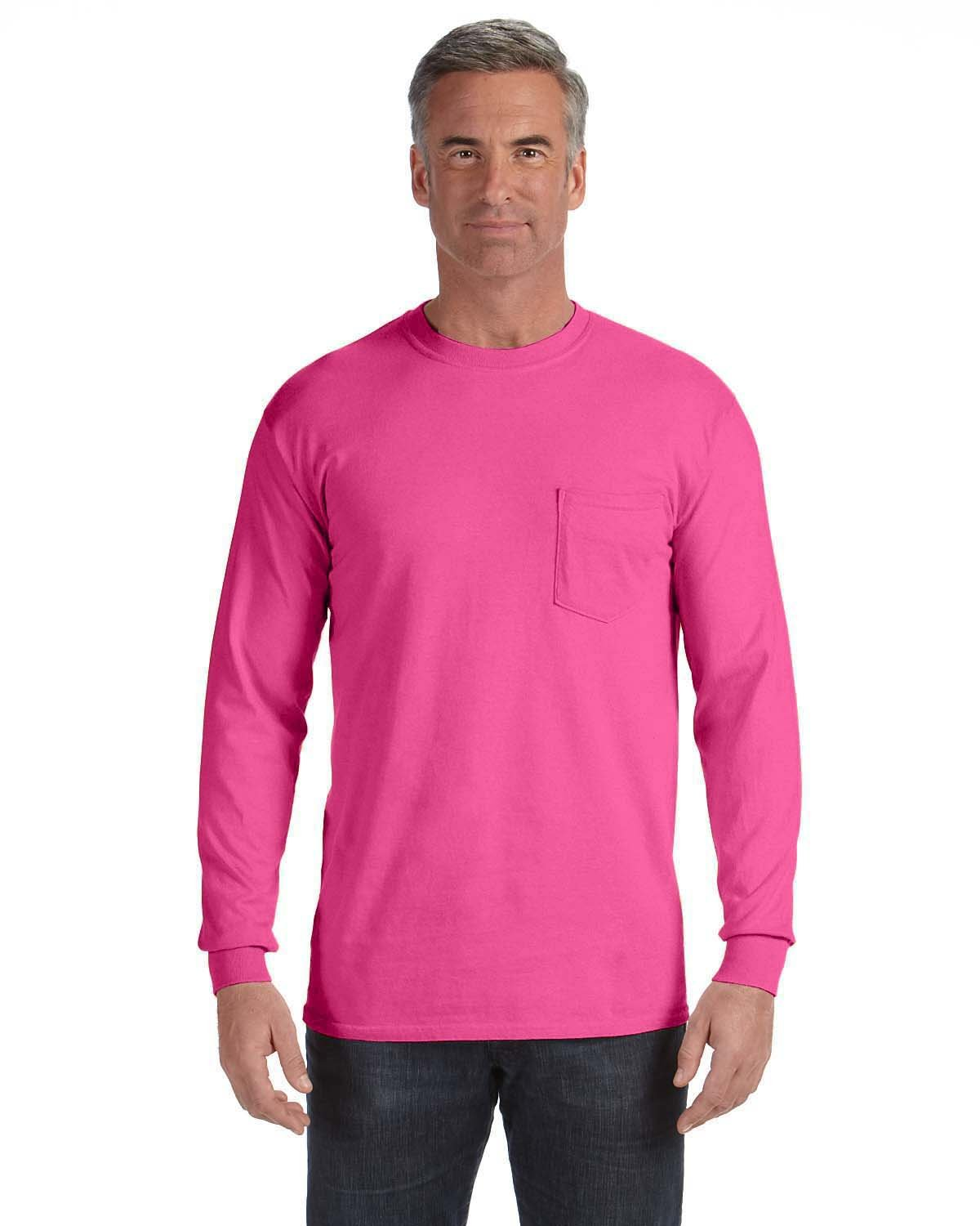Comfort Colors Adult Heavyweight RS Long-Sleeve Pocket T-Shirt PEONY