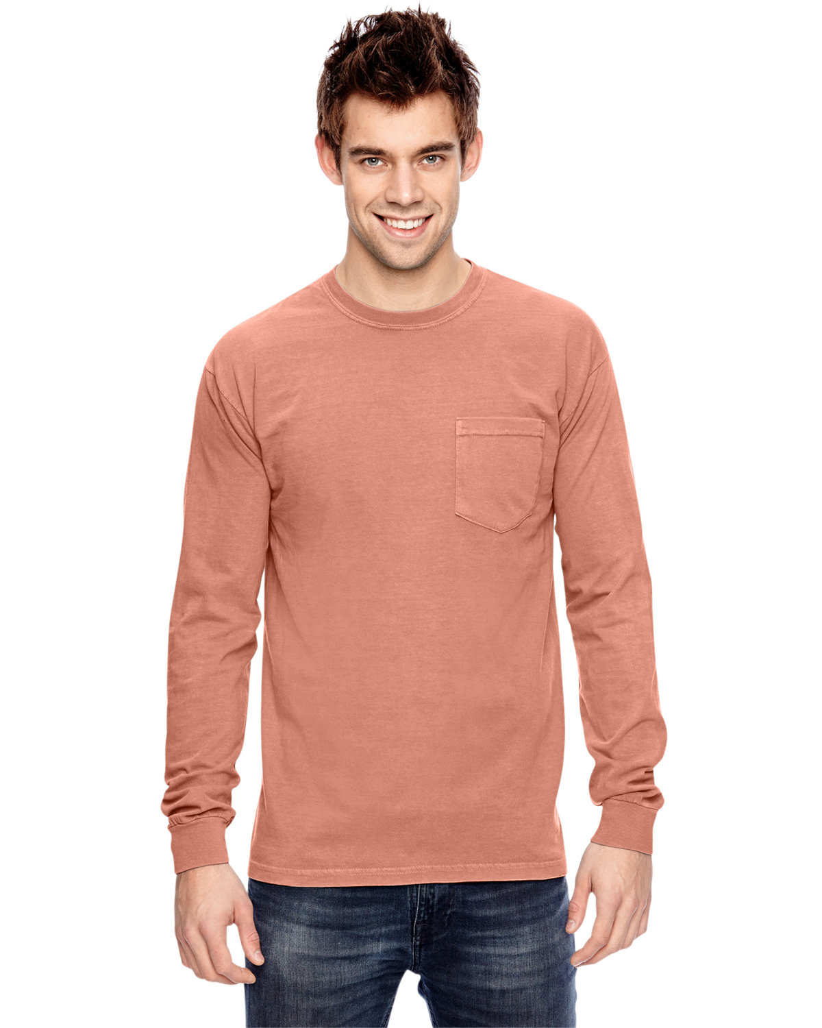 Comfort Colors Adult Heavyweight RS Long-Sleeve Pocket T-Shirt TERRACOTA
