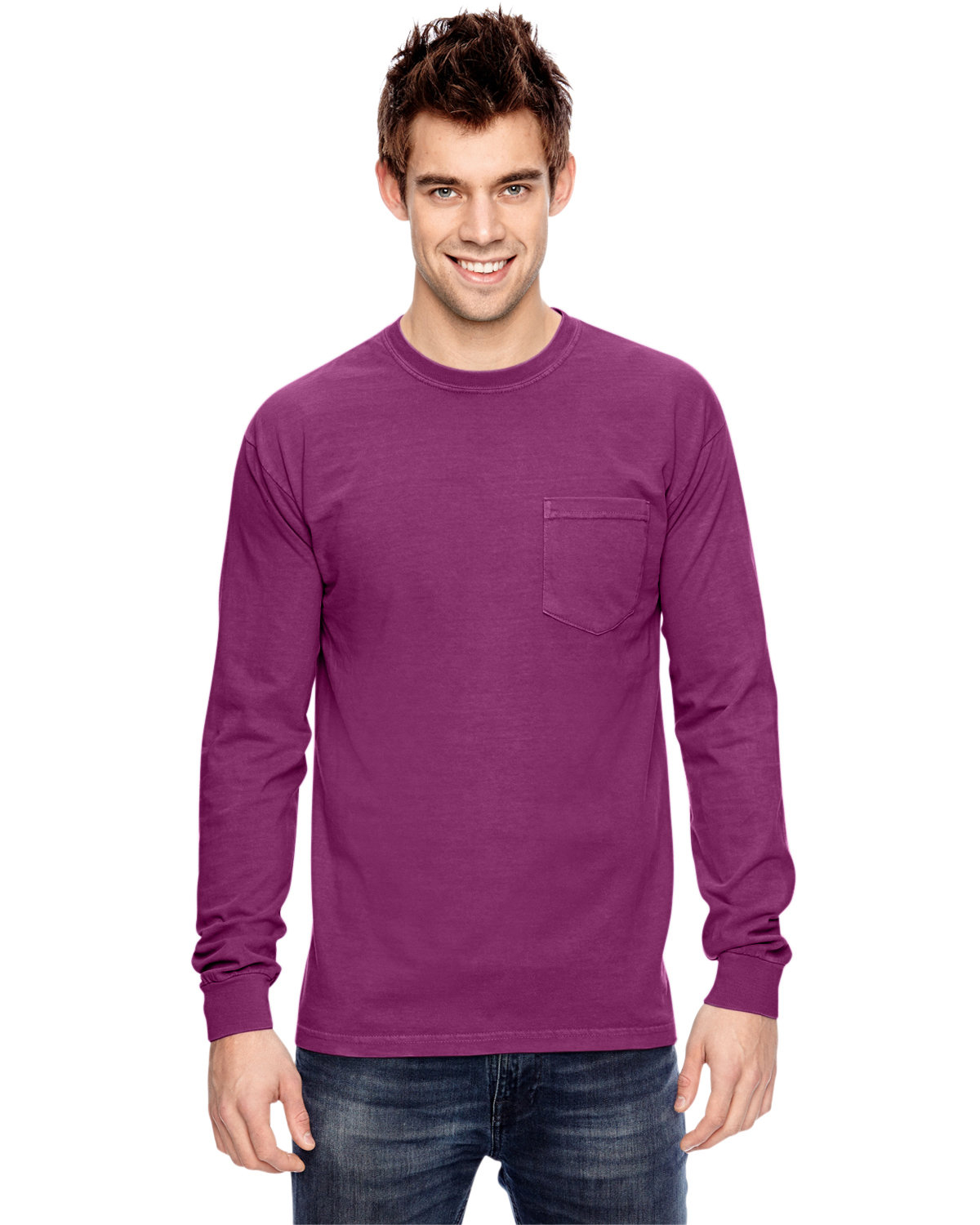 Comfort Colors Adult Heavyweight RS Long-Sleeve Pocket T-Shirt BOYSENBERRY
