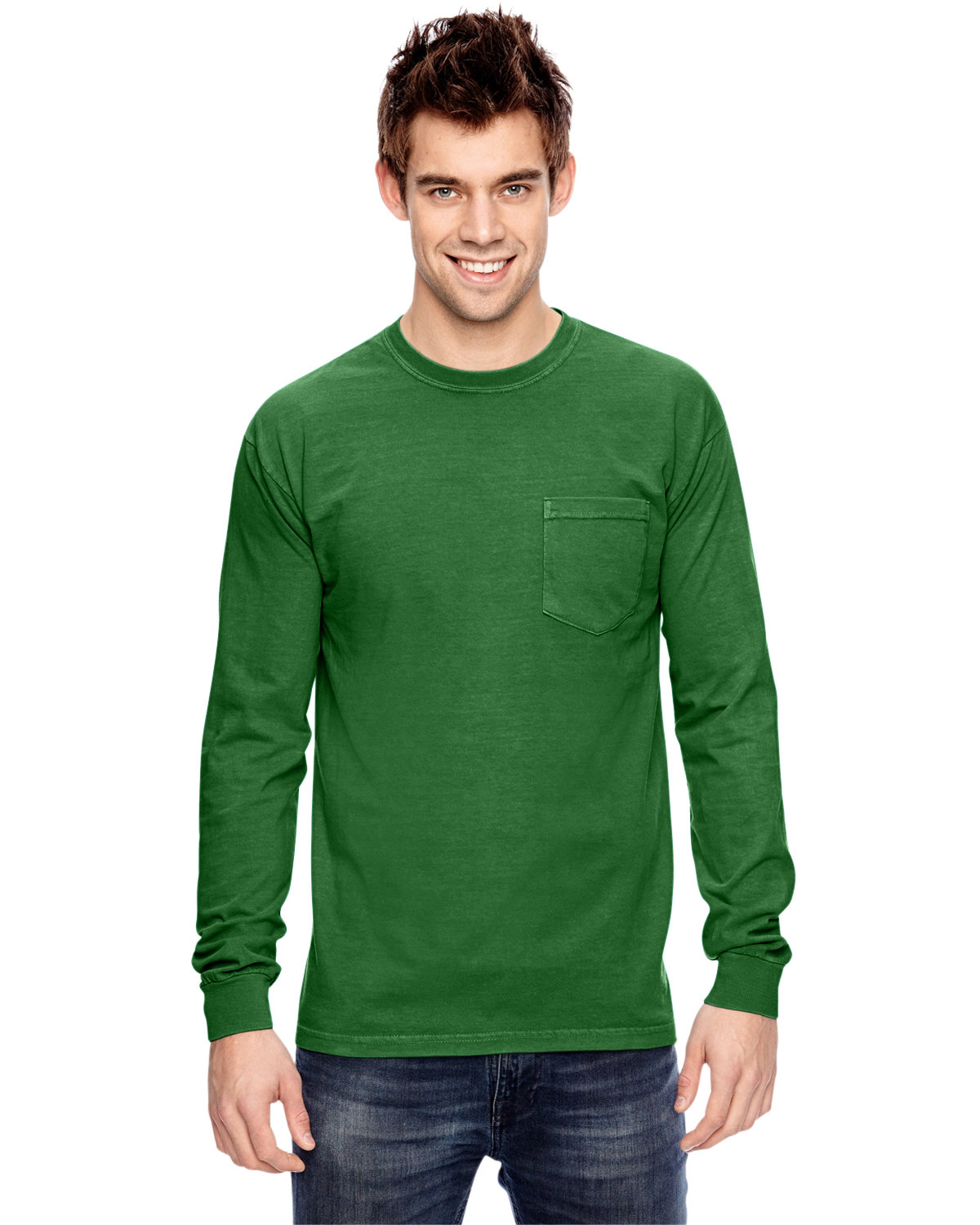 Comfort Colors Adult Heavyweight RS Long-Sleeve Pocket T-Shirt CLOVER