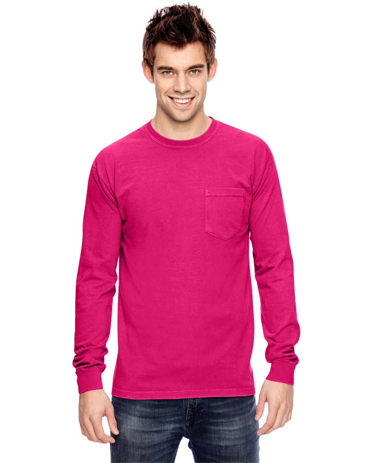 Comfort Colors Adult Heavyweight RS Long-Sleeve Pocket T-Shirt HELICONIA