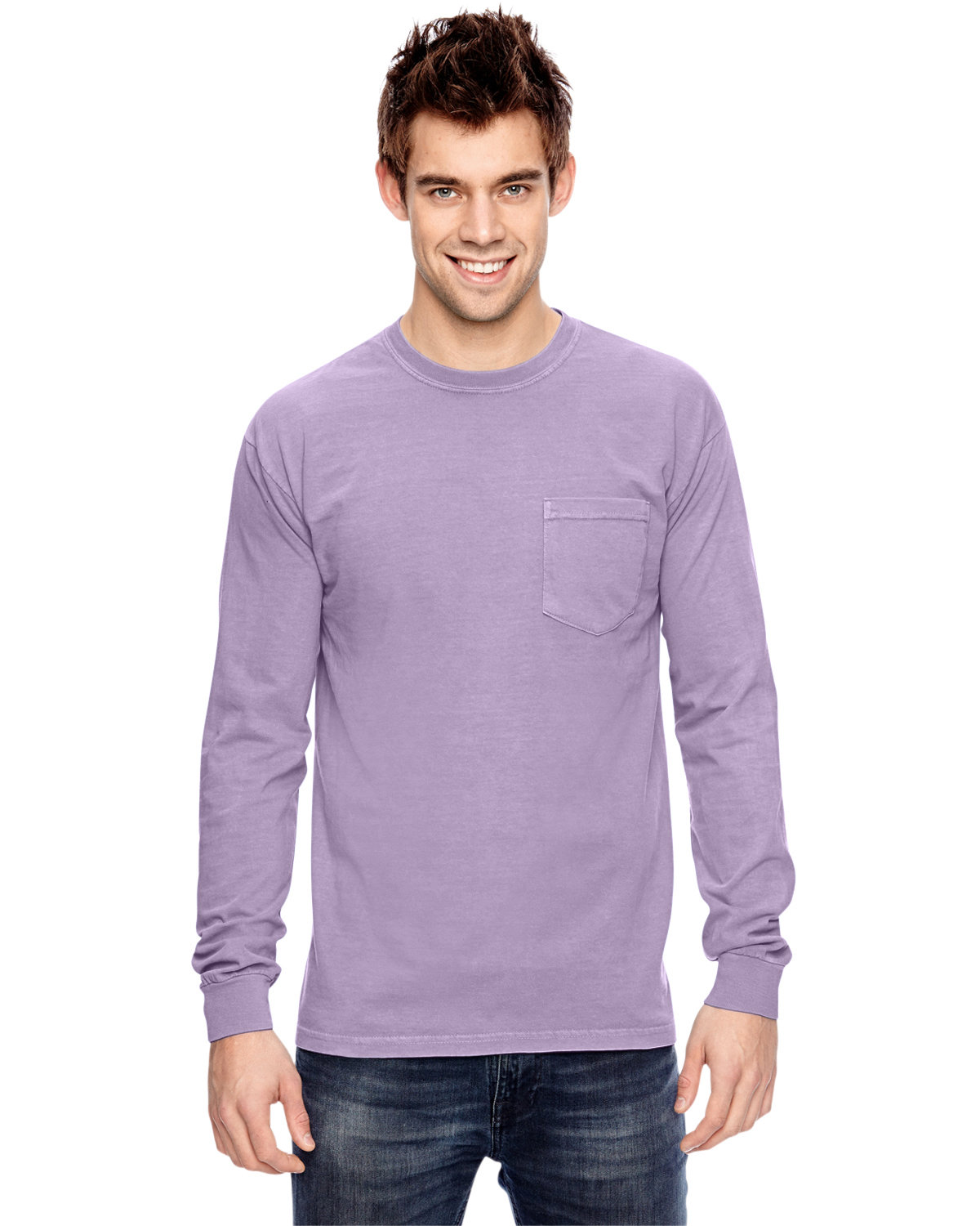 Comfort Colors Adult Heavyweight RS Long-Sleeve Pocket T-Shirt ORCHID