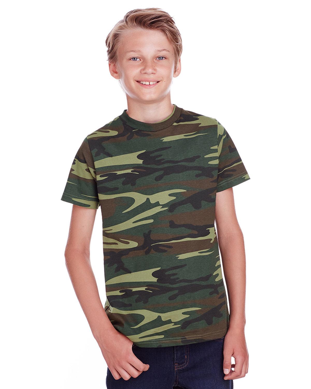 Code Five Youth Camo T-Shirt GREEN WOODLAND
