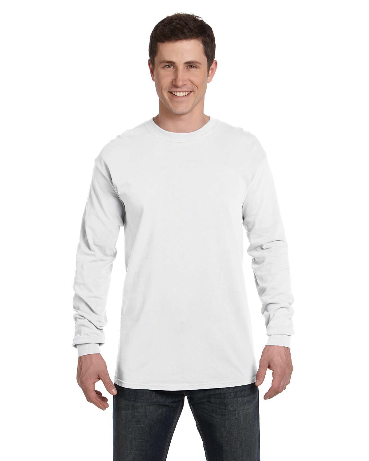 Comfort Colors Adult Heavyweight Long-Sleeve T-Shirt WHITE