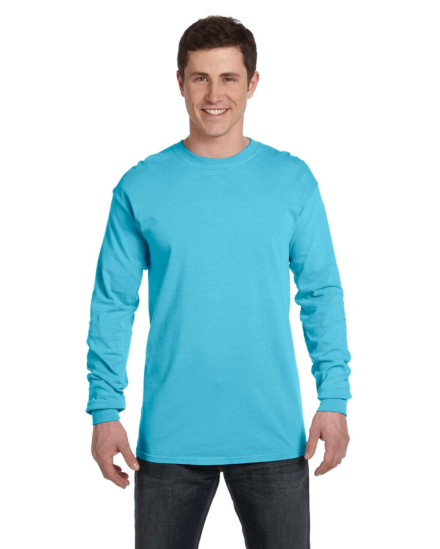 Comfort Colors Adult Heavyweight Long-Sleeve T-Shirt LAGOON BLUE