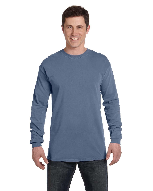 Comfort Colors Adult Heavyweight Long-Sleeve T-Shirt BLUE JEAN