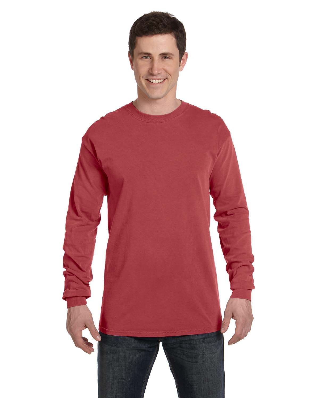 Comfort Colors Adult Heavyweight Long-Sleeve T-Shirt CRIMSON