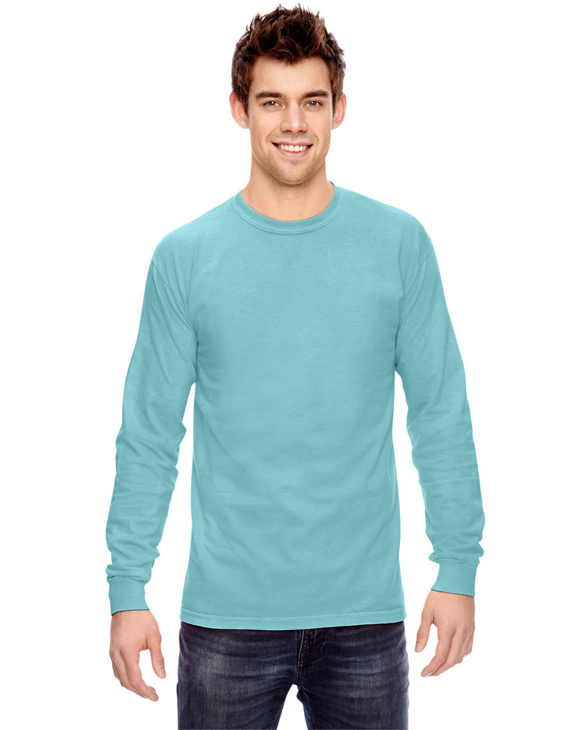 Comfort Colors Adult Heavyweight Long-Sleeve T-Shirt CHALKY MINT
