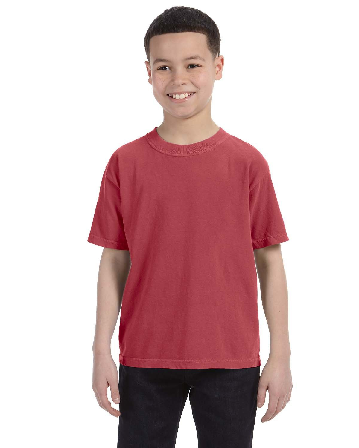 Comfort Colors Youth Midweight RS T-Shirt CRIMSON