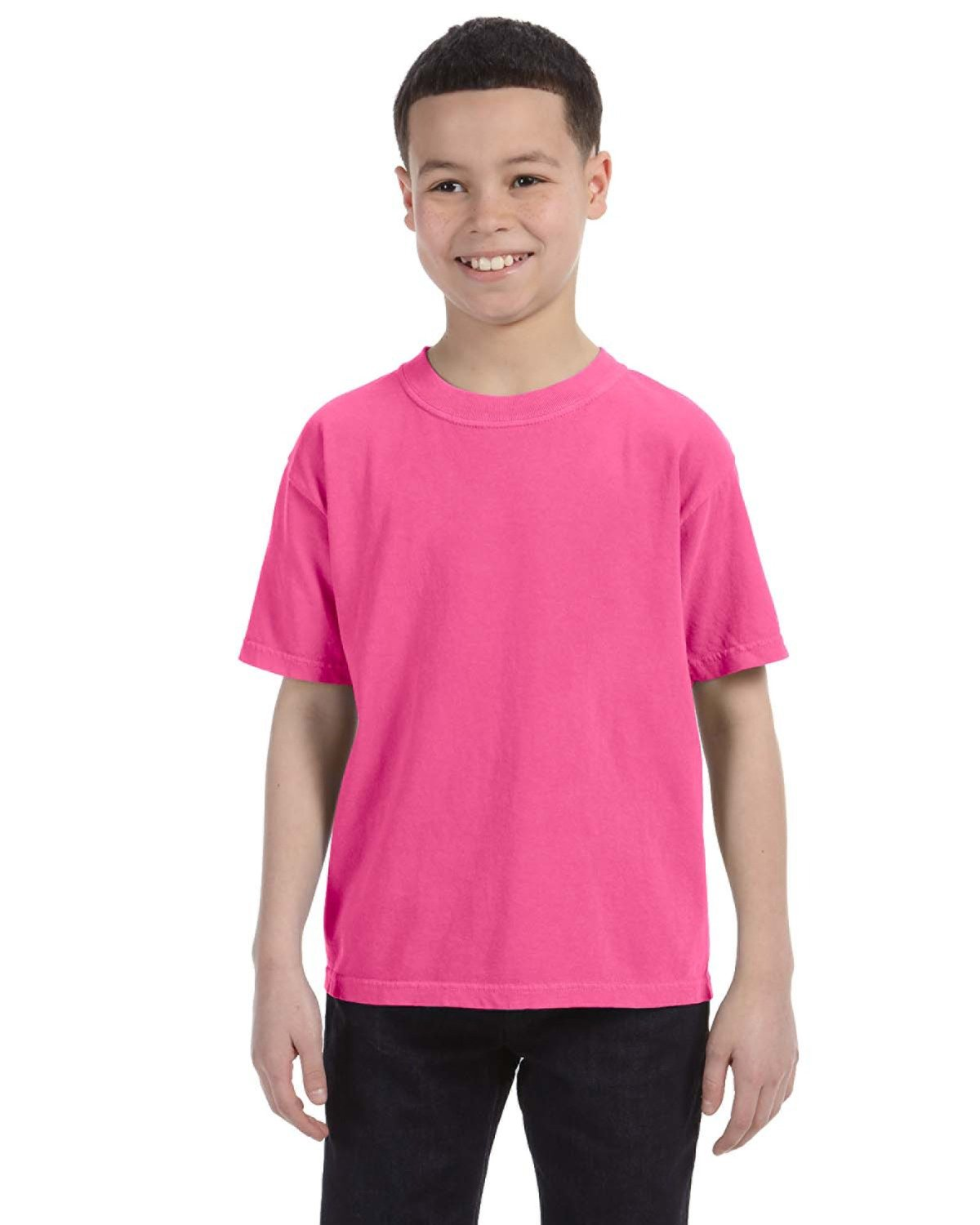 Comfort Colors Youth Midweight RS T-Shirt NEON PINK