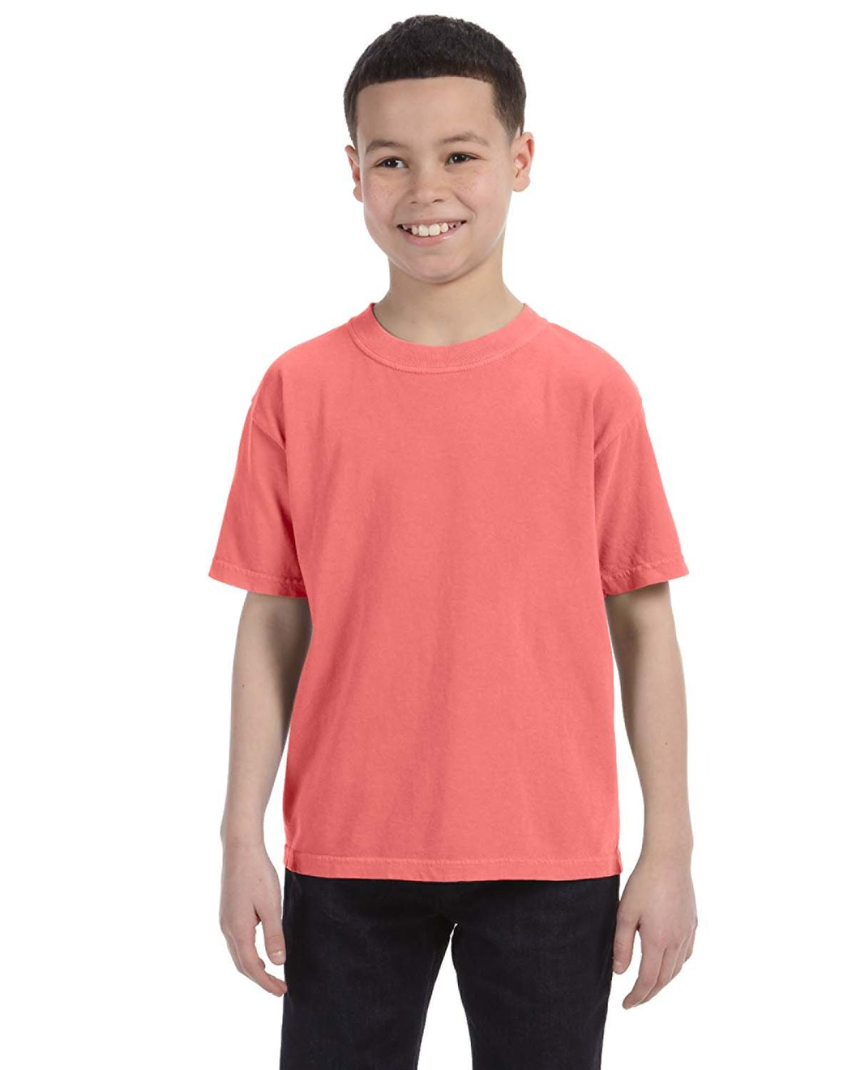 Comfort Colors Youth Midweight RS T-Shirt NEON RED ORANGE