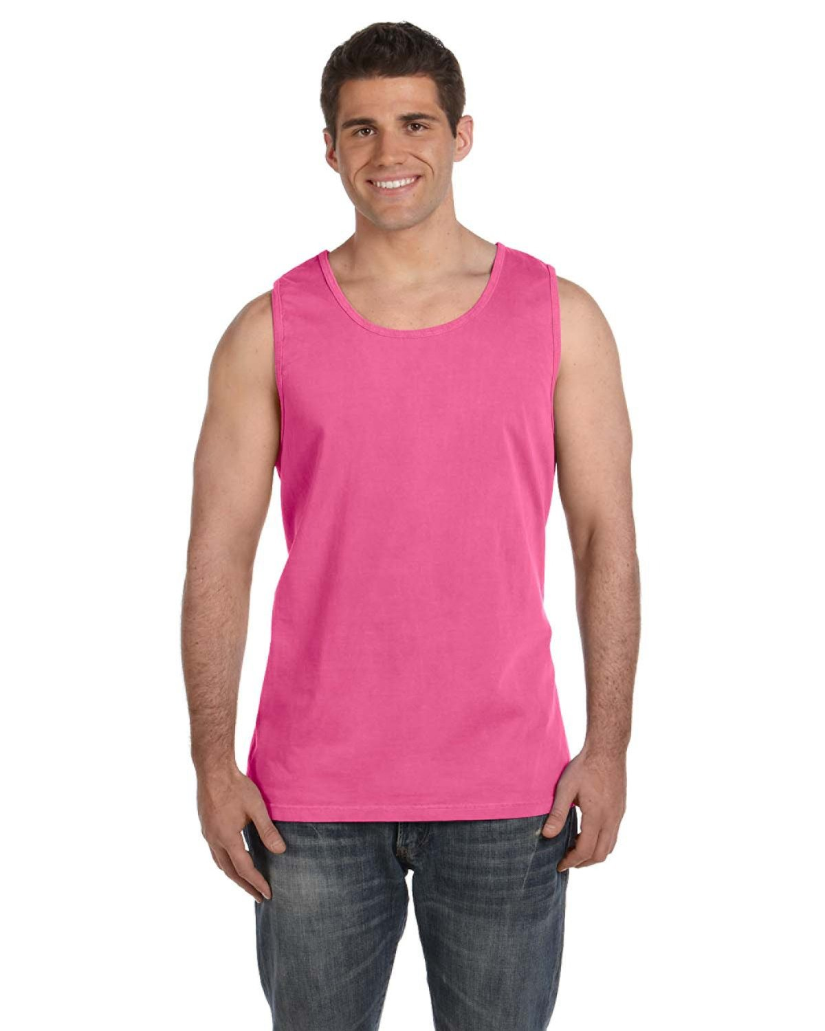 Comfort Colors Adult Heavyweight RS Tank NEON PINK