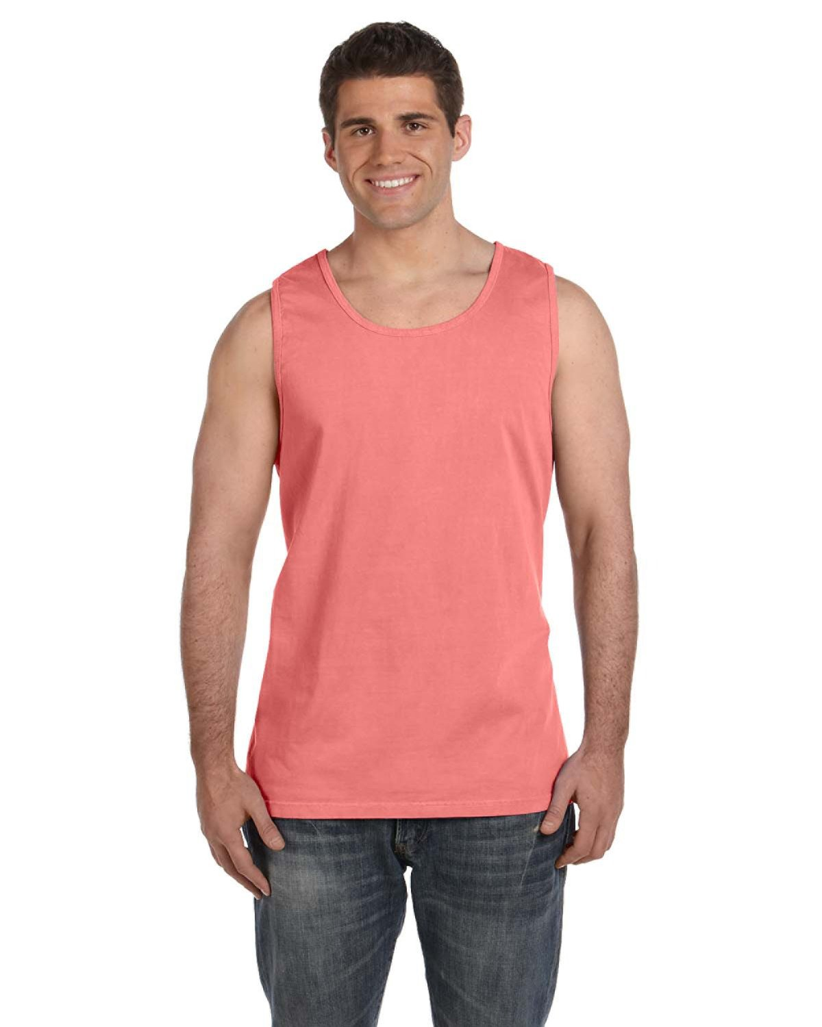 Comfort Colors Adult Heavyweight RS Tank NEON RED ORANGE
