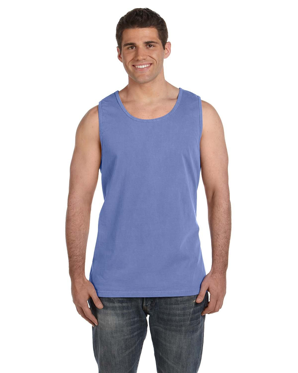 Comfort Colors Adult Heavyweight RS Tank FLO BLUE