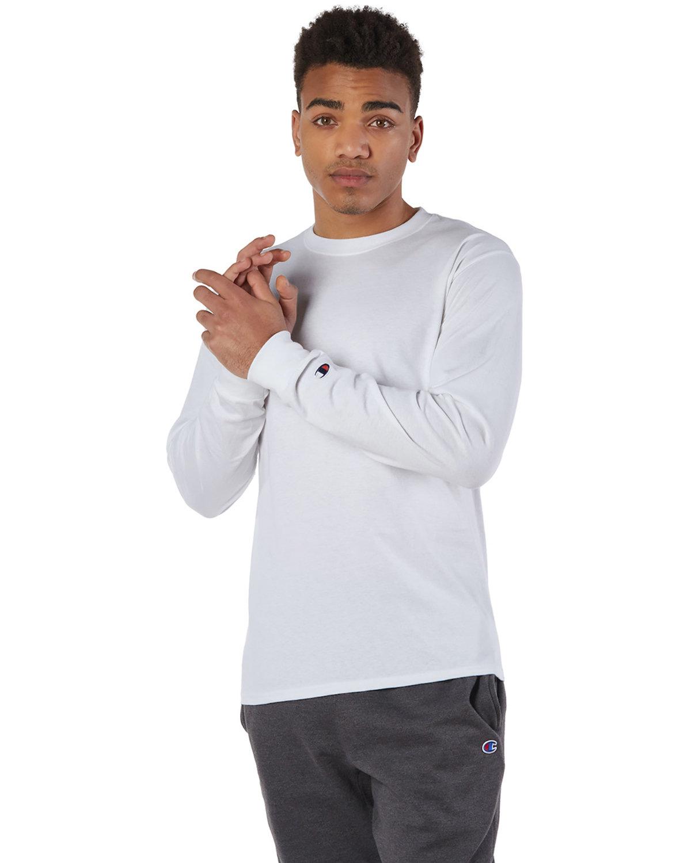 Champion Adult Long-Sleeve T-Shirt WHITE