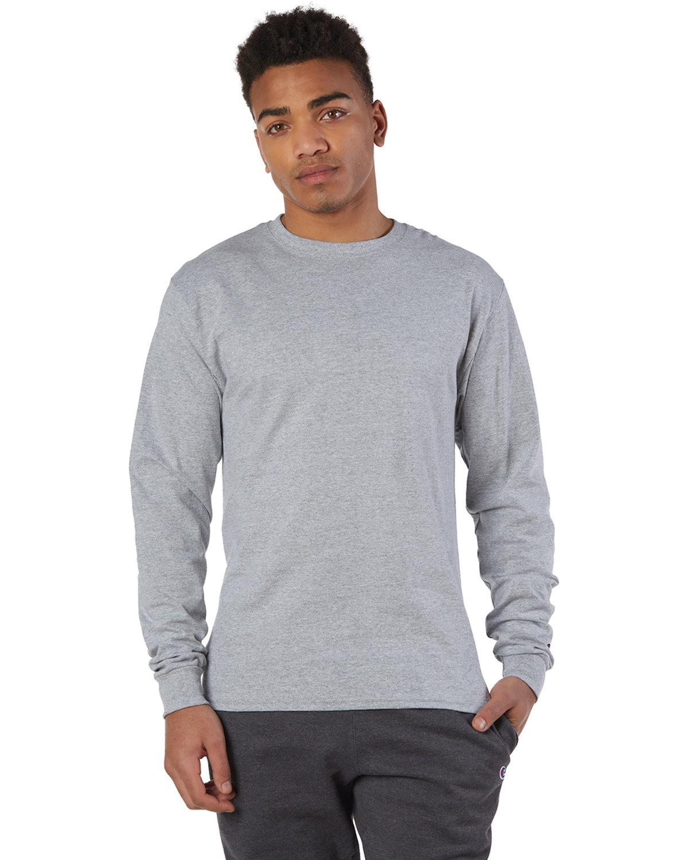 Champion Adult Long-Sleeve T-Shirt LIGHT STEEL