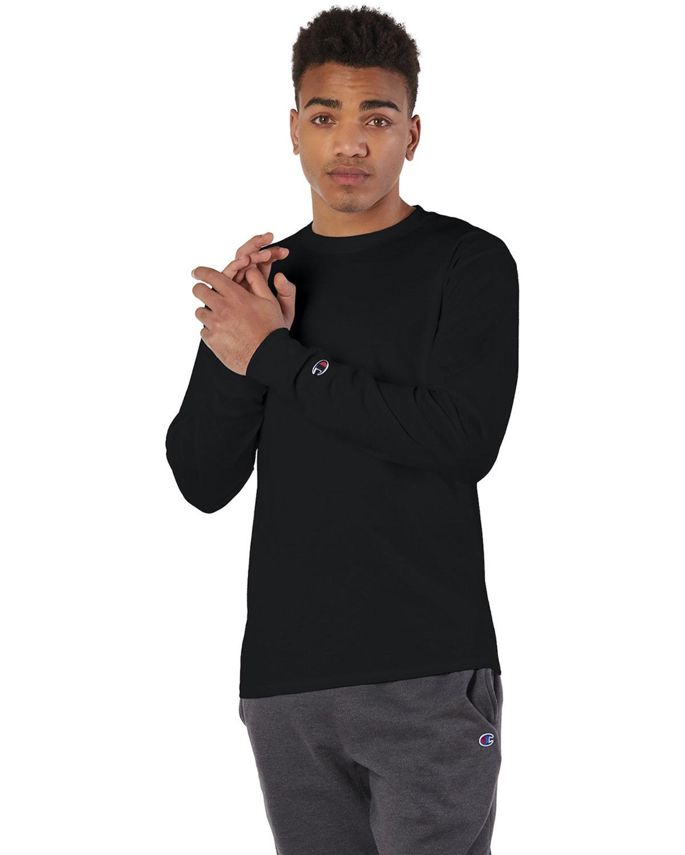 Champion Adult Long-Sleeve T-Shirt BLACK