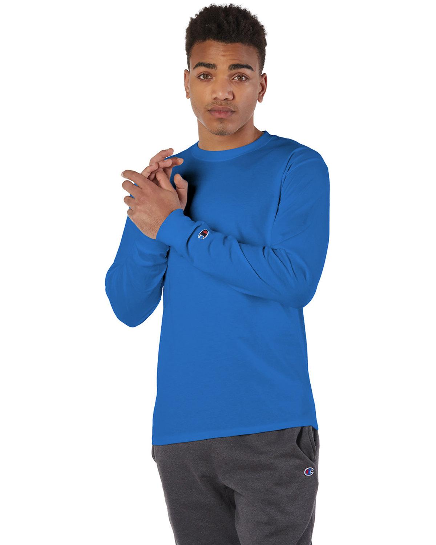 Champion Adult Long-Sleeve T-Shirt ROYAL BLUE