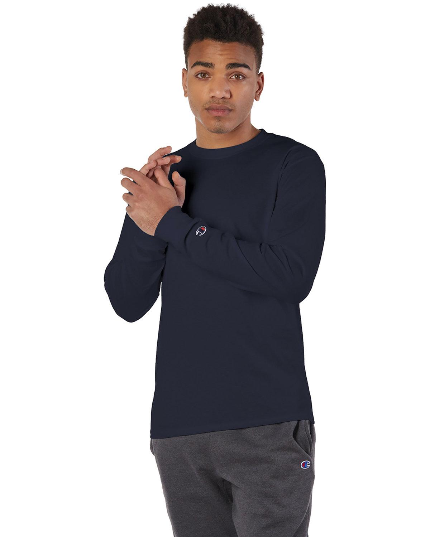 Champion Adult Long-Sleeve T-Shirt NAVY