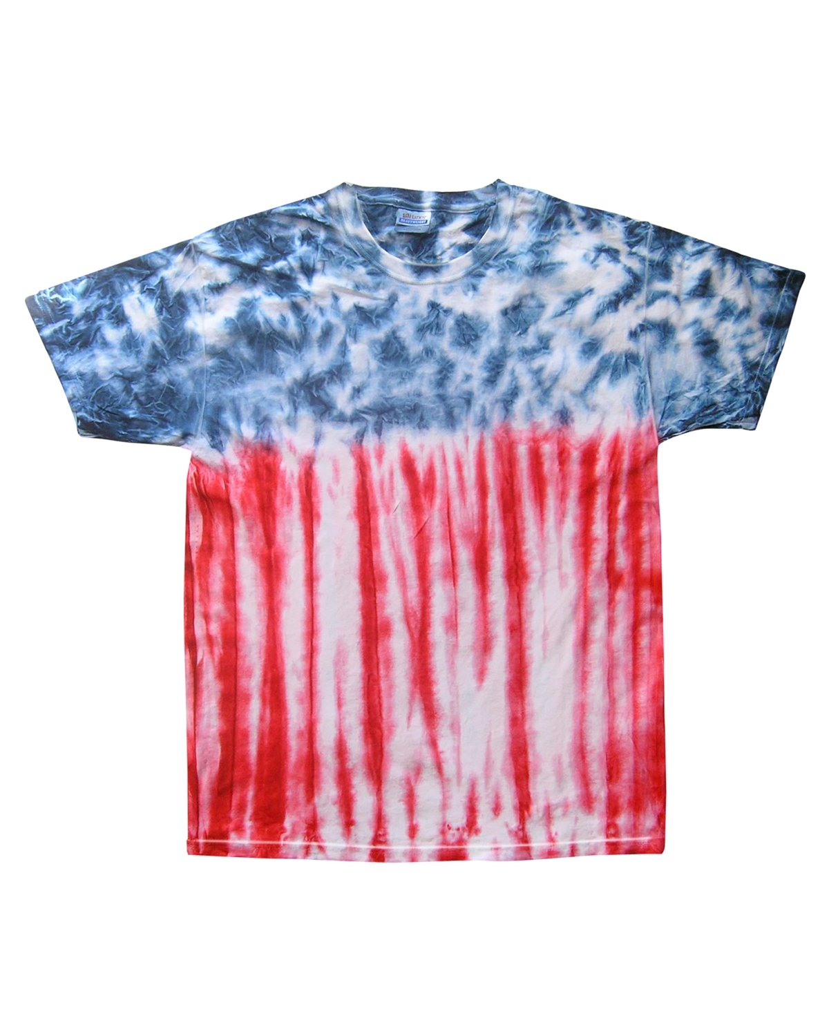 Tie-Dye Adult 5.4 oz., 100% Cotton T-Shirt FLAG