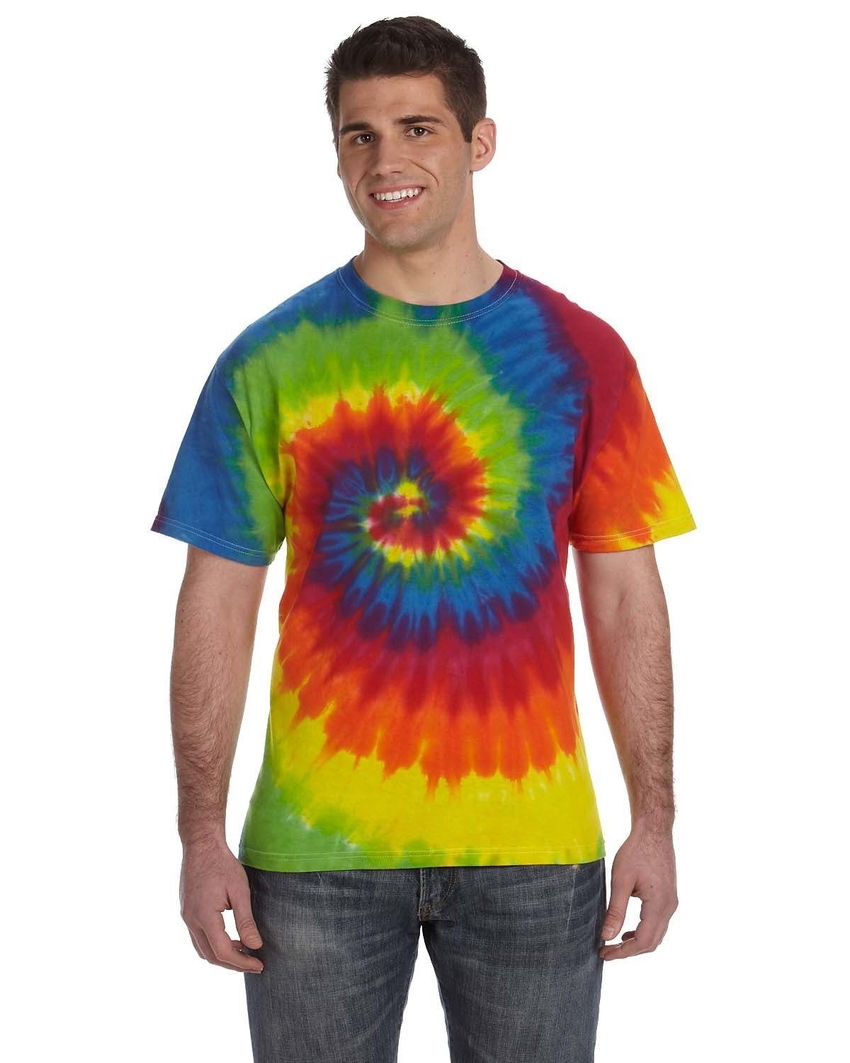 Tie-Dye Adult 5.4 oz., 100% Cotton T-Shirt MOONDANCE