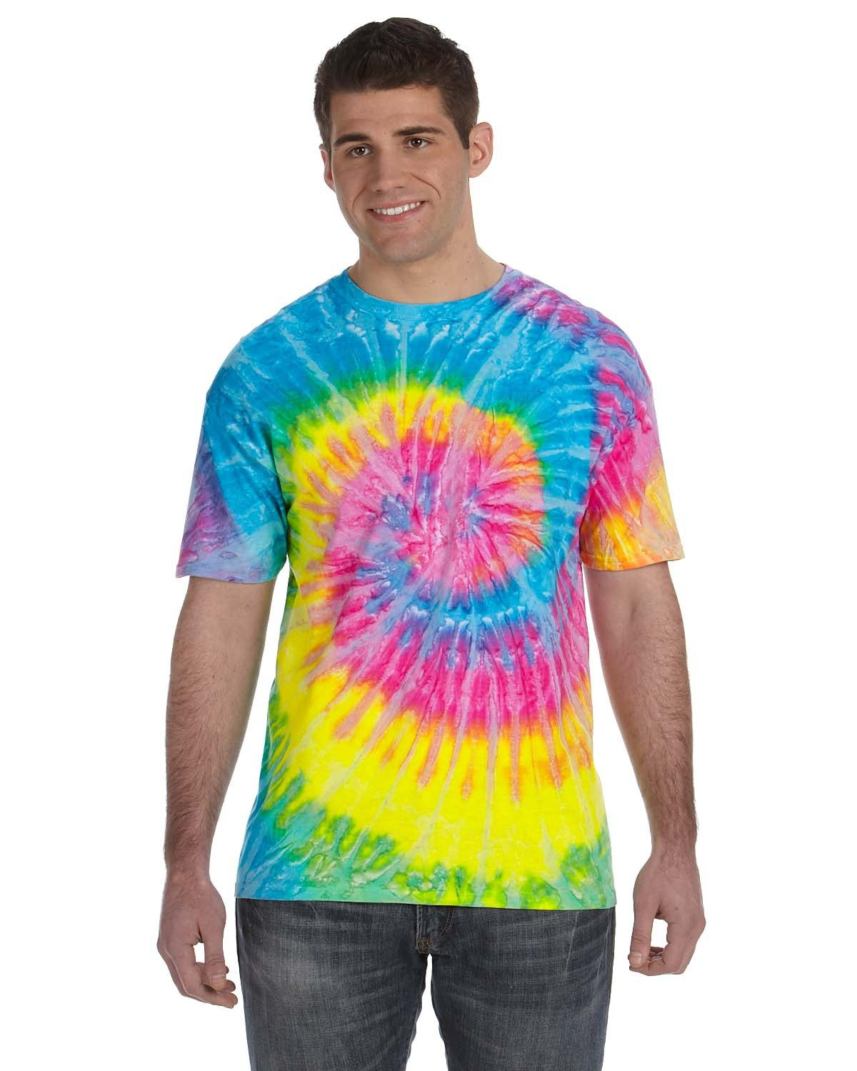 Tie-Dye Adult 5.4 oz., 100% Cotton T-Shirt SATURN