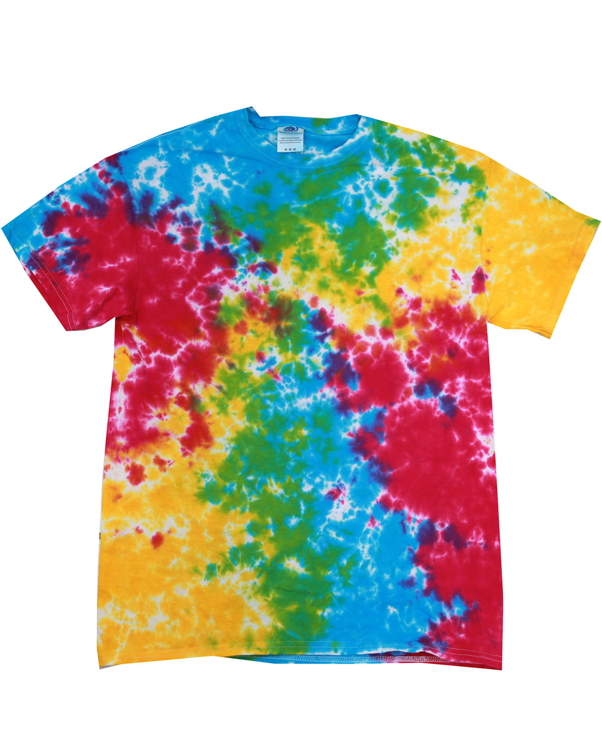 Tie-Dye Adult 5.4 oz., 100% Cotton T-Shirt MULTI RAINBOW