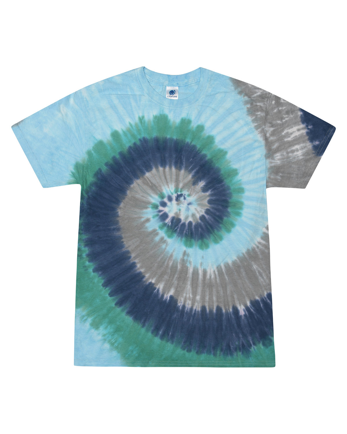 Tie-Dye Adult 5.4 oz., 100% Cotton T-Shirt EARTH