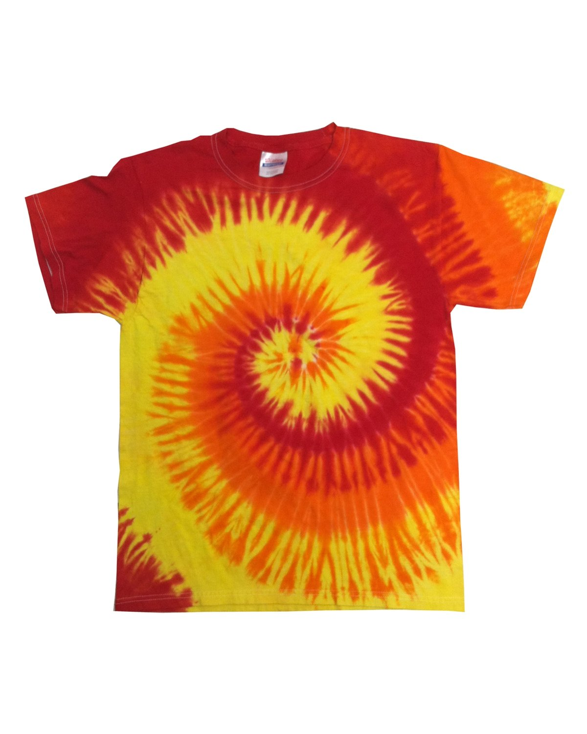 Tie-Dye Adult 5.4 oz., 100% Cotton T-Shirt BLAZE