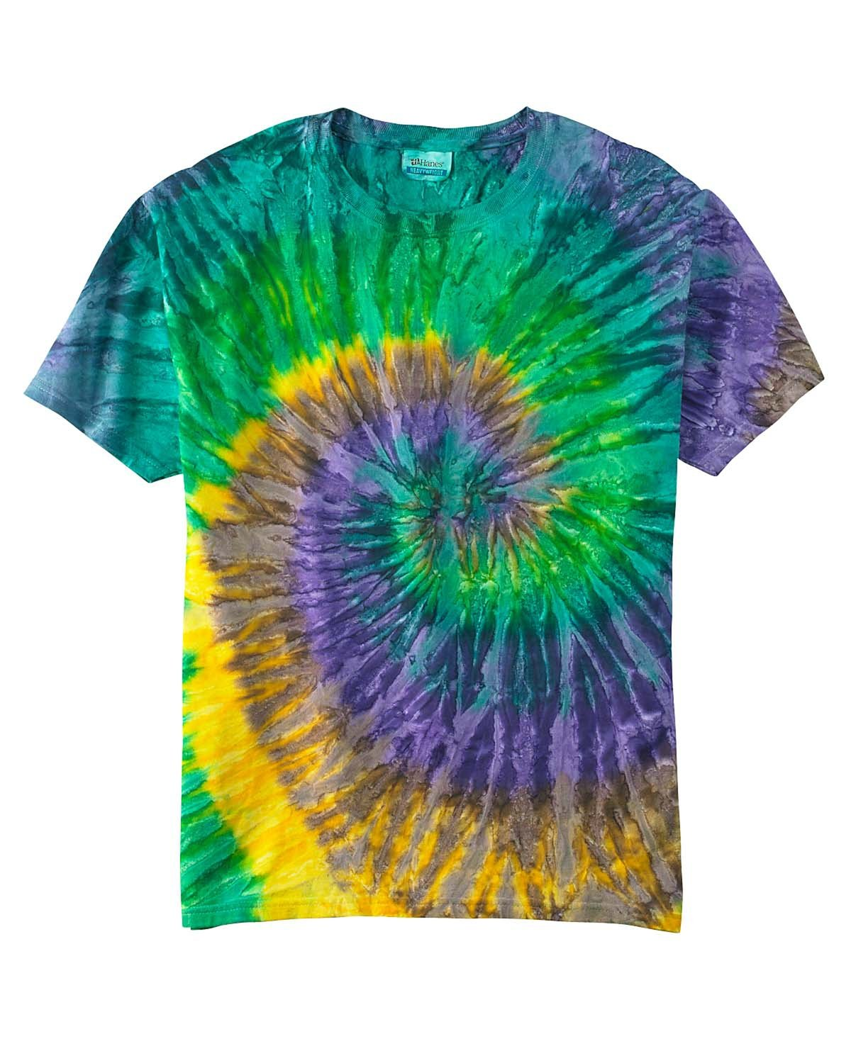 Tie-Dye Adult 5.4 oz., 100% Cotton T-Shirt MARDI GRAS