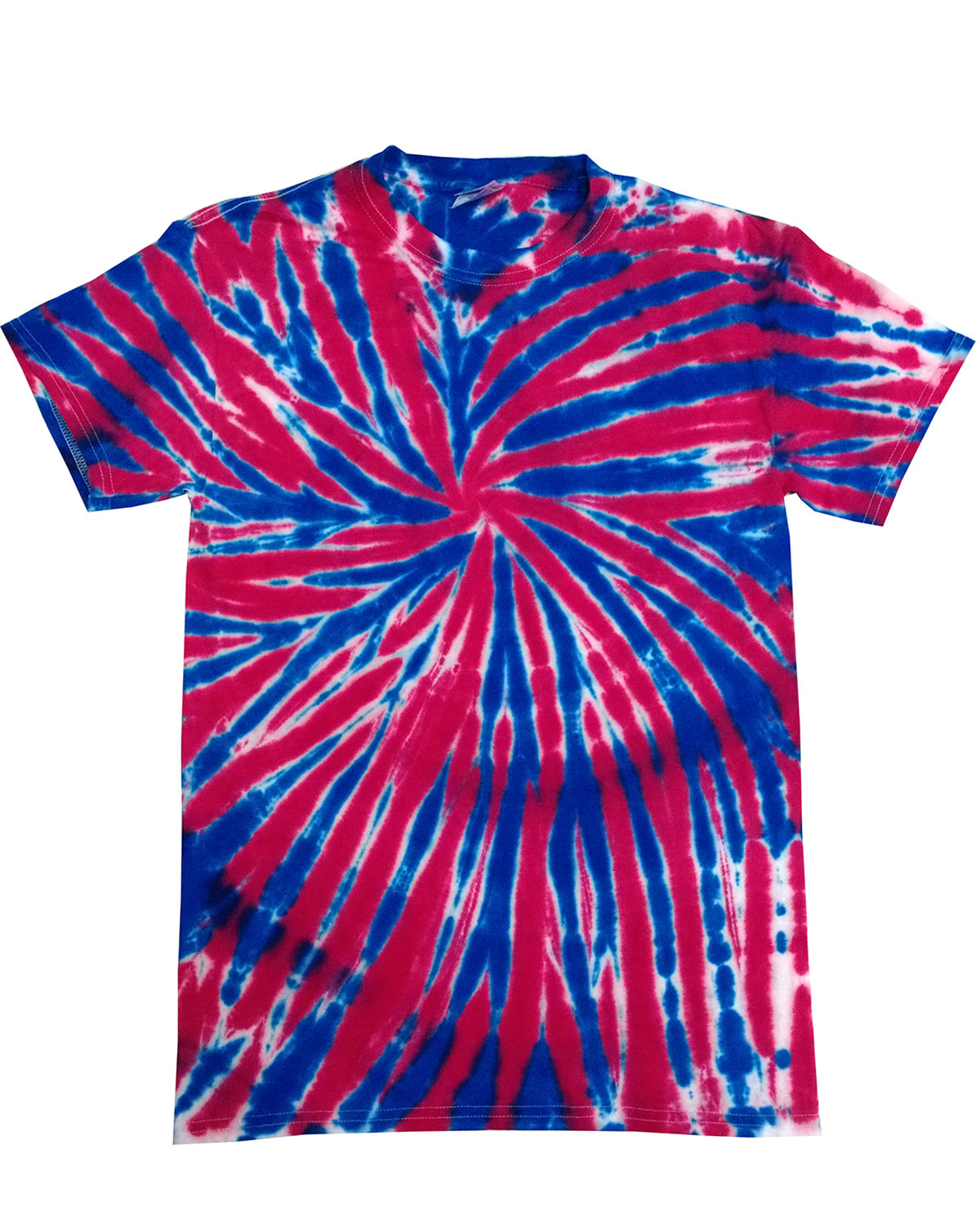 Tie-Dye Adult 5.4 oz., 100% Cotton T-Shirt UNION JACK