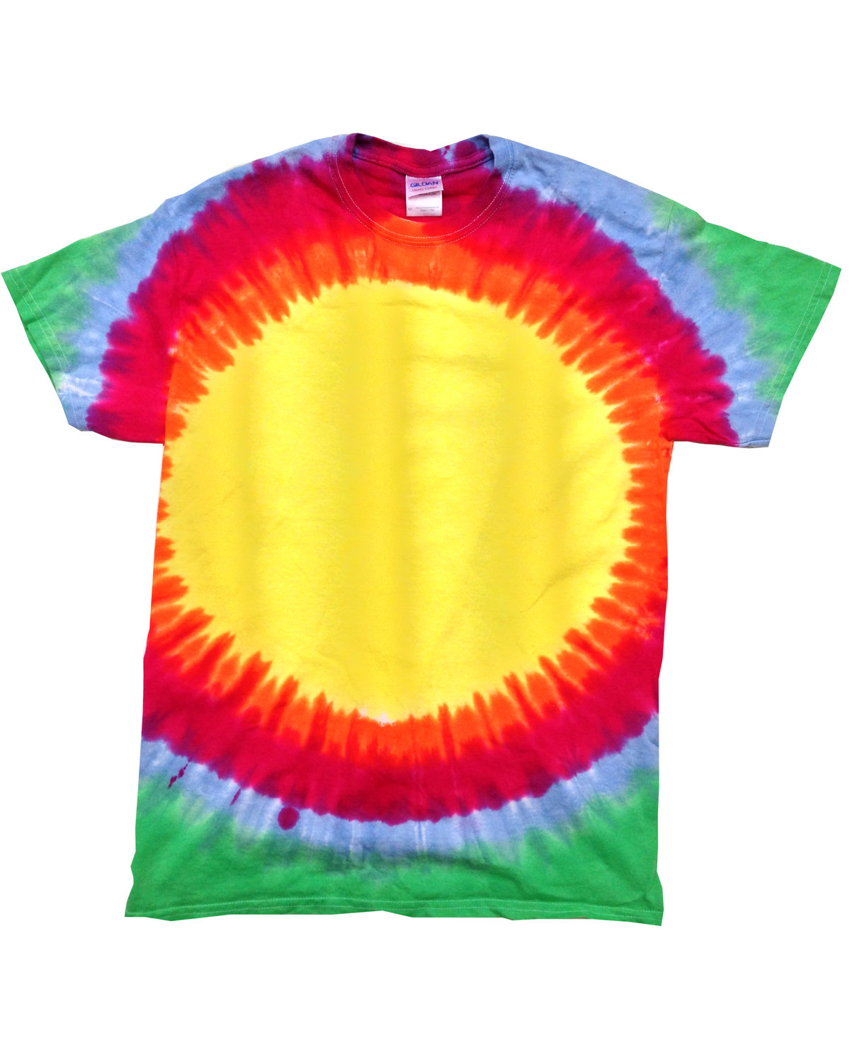 Tie-Dye Adult 5.4 oz., 100% Cotton T-Shirt SUNBURST RAINBOW