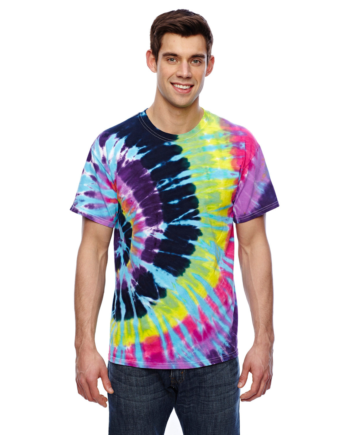 Tie-Dye Adult 5.4 oz., 100% Cotton T-Shirt FLASHBACK