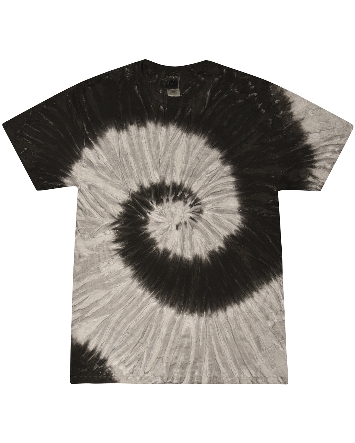 Tie-Dye Adult 5.4 oz., 100% Cotton T-Shirt BLACK RAINBOW
