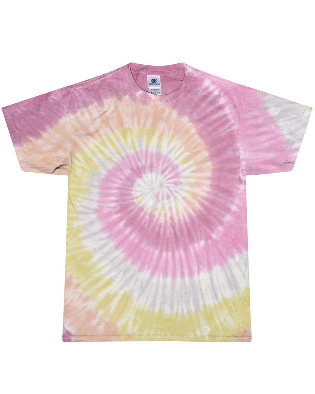 Tie-Dye Adult 5.4 oz., 100% Cotton T-Shirt DESERT ROSE