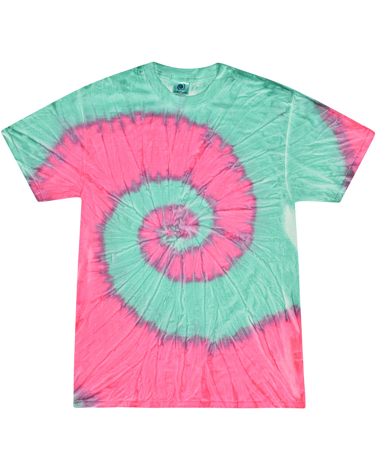Tie-Dye Adult 5.4 oz., 100% Cotton T-Shirt MINT FUSION