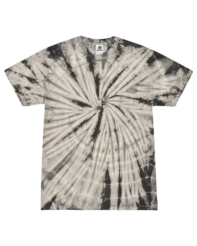 Tie-Dye Adult 5.4 oz. 100% Cotton Spider T-Shirt SPIDER GRAY