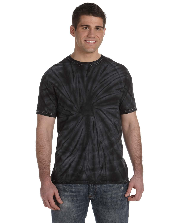 Tie-Dye Adult 5.4 oz. 100% Cotton Spider T-Shirt SPIDER BLACK