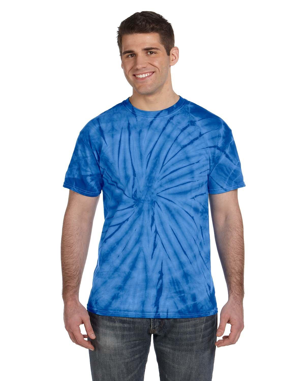 Tie-Dye Adult 5.4 oz. 100% Cotton Spider T-Shirt SPIDER ROYAL