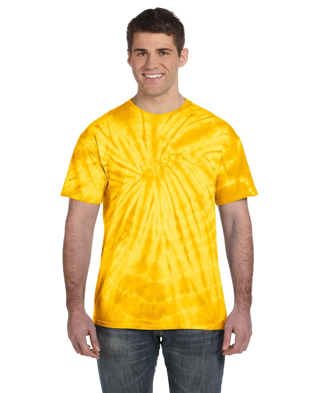 Tie-Dye Adult 5.4 oz. 100% Cotton Spider T-Shirt SPIDER GOLD